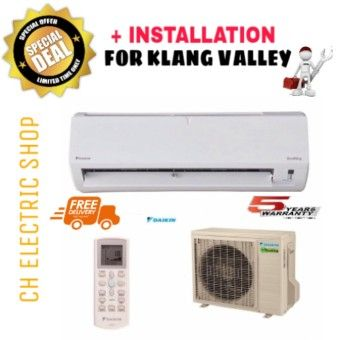 Best Shop DAIKIN ECO KING WALL MOUNTED 1.5HP AIR CONDITIONER (R410) - FTN15P / RN15F - NON INVERTER (FREE DELIVERY AND INSTALLATION FOR KLANG VALLEY)Order in good conditions DAIKIN ECO KING WALL MOUNTED 1.5HP AIR CONDITIONER (R410) - FTN15P / RN15F - NON INVERTER (FREE DELIVERY AND INSTALLATION FOR KLANG VALLEY) ADD TO CART DA640HAAB12OJRANMY-80152912 Home Appliances Cooling & Heating Air Conditioning Daikin DAIKIN ECO KING WALL MOUNTED 1.5HP AIR CONDITIONER (R410) - FTN15P / RN15F - NON…