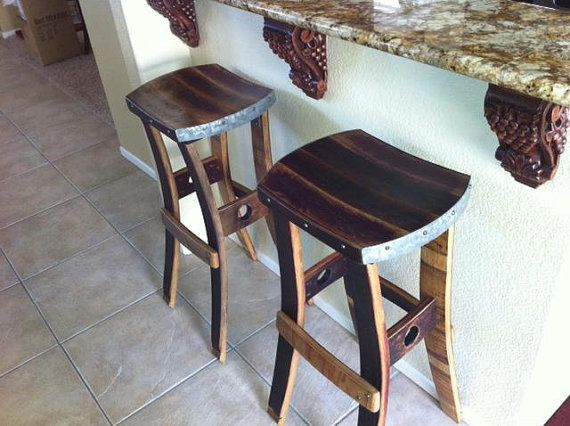One of A Kind barstools made out of retired wine barrels. Color variations come from a combination of the toasting of the barrel and the wine & 8 best Wine Barrell products images on Pinterest | Barrel ... islam-shia.org