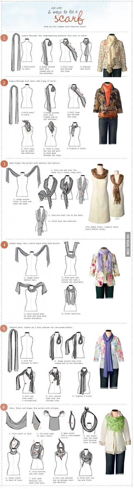 How to tie a scarf Wow