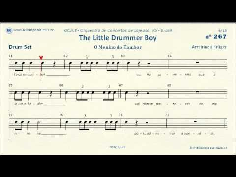 267 - The Little Drummer Boy - (Drum Set) - YouTube