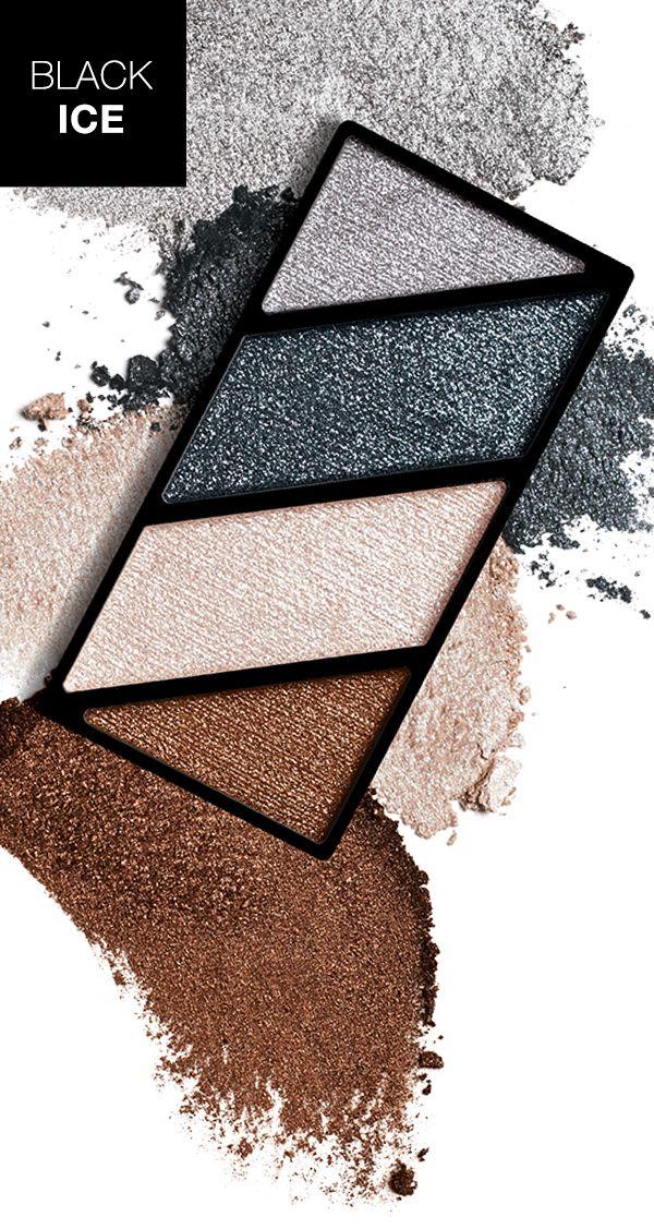 Crea un look moderno y con tonos metálicos con la Paleta de Sombras de Ojos Minerales Mary Kay® Black Ice.
