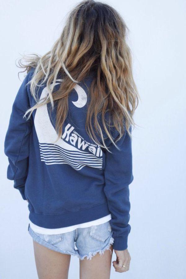Love blue hawaii hoodie
