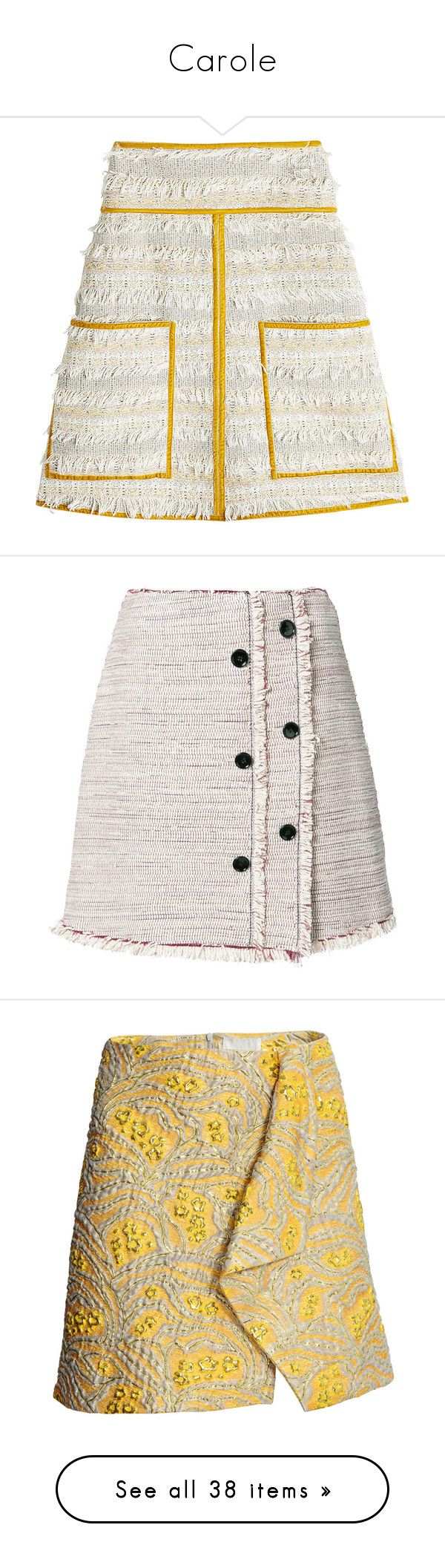 """""""Carole"""" by belenloperfido ❤ liked on Polyvore featuring skirts, mini skirts, multicolored, high waisted mini skirt, white short skirt, white boho skirt, white mini skirt, short mini skirts, bottoms and gonne"""