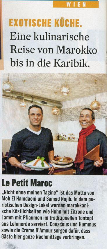 Petit Maroc - marokkanisches Restaurant in 1070 Wien, Neubaugasse 84, Mittagsmenü, Tagine, wie es isst ...