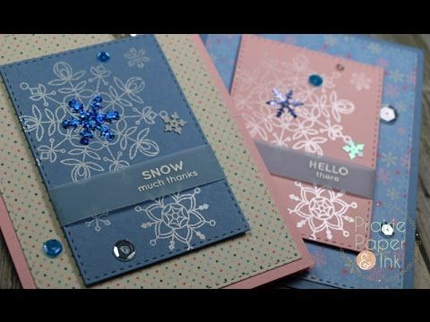Tim Holtz Doodle Greetings 1 & 2 | AmyR 2016 Christmas Card Series #6 - YouTube