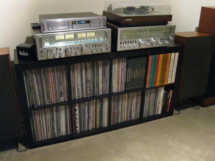 Die 25 besten ikea record storage ideen auf pinterest for Record case ikea