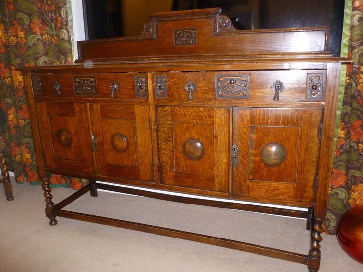 Dark Wood Sideboard Cabinet Edwardian 1048cm x90cm x48cm.Doors need new catches #Unbranded #Colonial