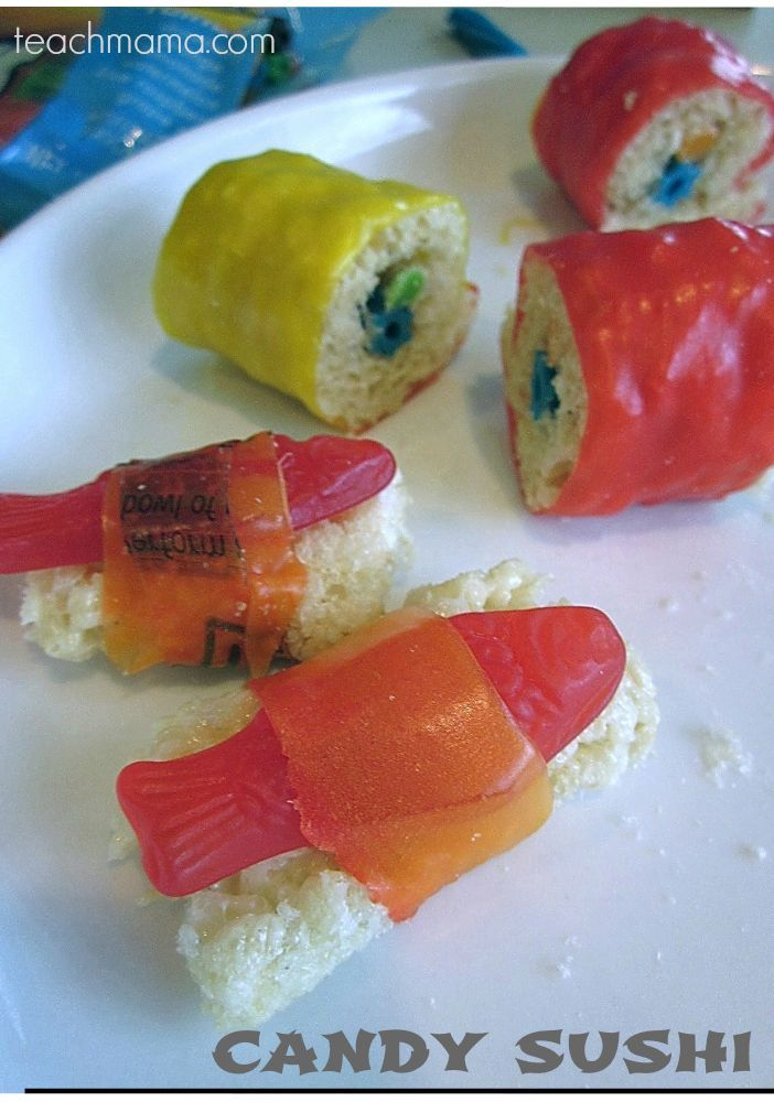 how to make candy sushi | best birthday treat ever or super-fun for april fools' day! --> LOVE this!