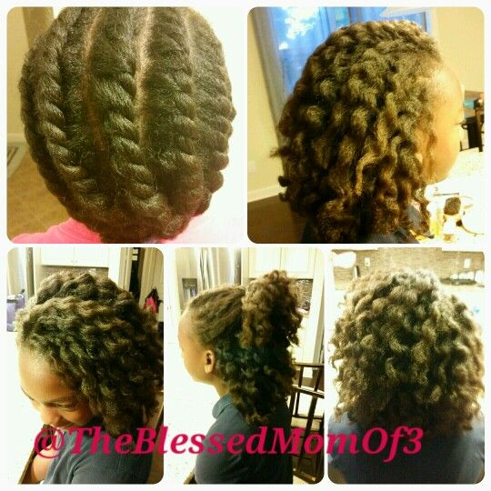 Jumbo Twist Out On Blow Dried Natural Hair Children S