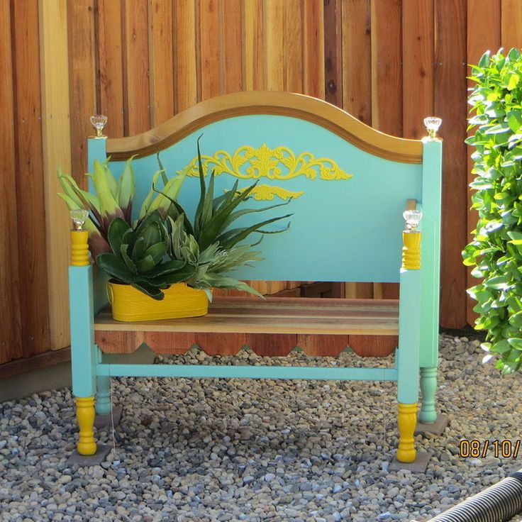 Bench Made From Old Found Bed Frame. Paint to match your decor!!!