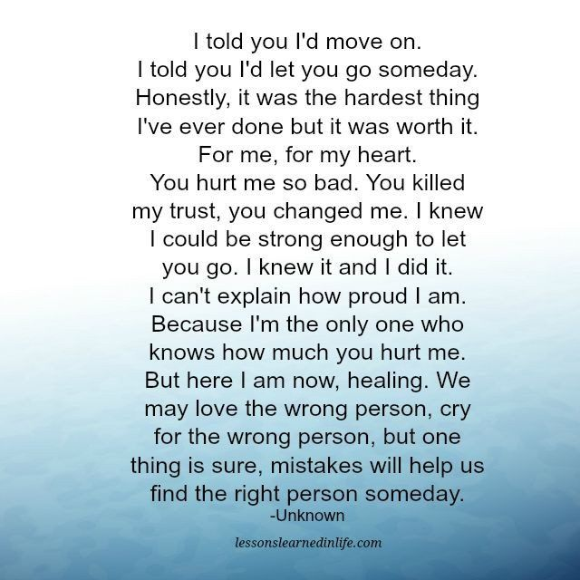 Lessons Learned in Life | I told you I'd move on.