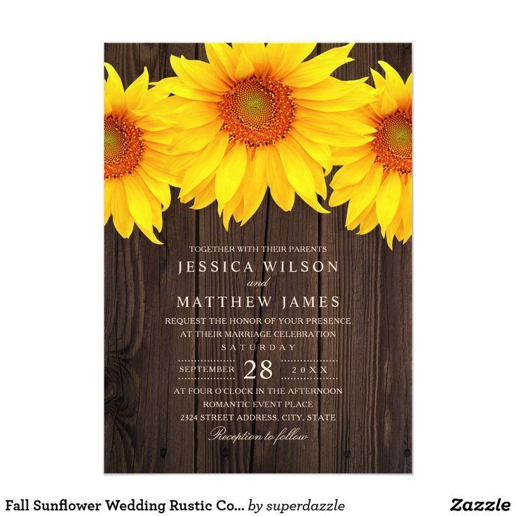 Fall Sunflower Wedding Rustic Country Barn