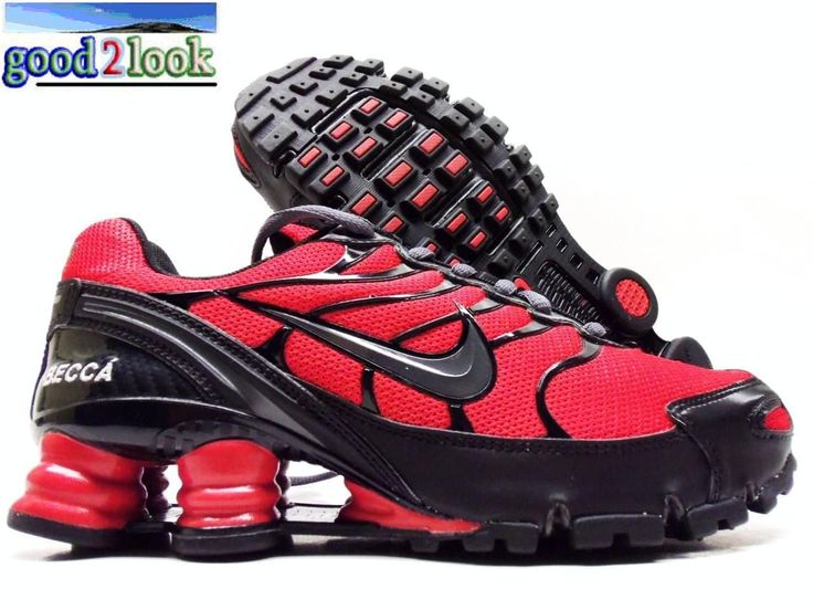 reputable site 196f1 6b472 ... sl fashion sneaker Nike Shox Turbo VI ID Red Black Size Womens 6 5 eBay Nike  Mens ...