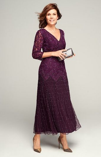 Beautiful Mother of the Bride Dress - I would get a different color so I don't match your bridesmaids:)