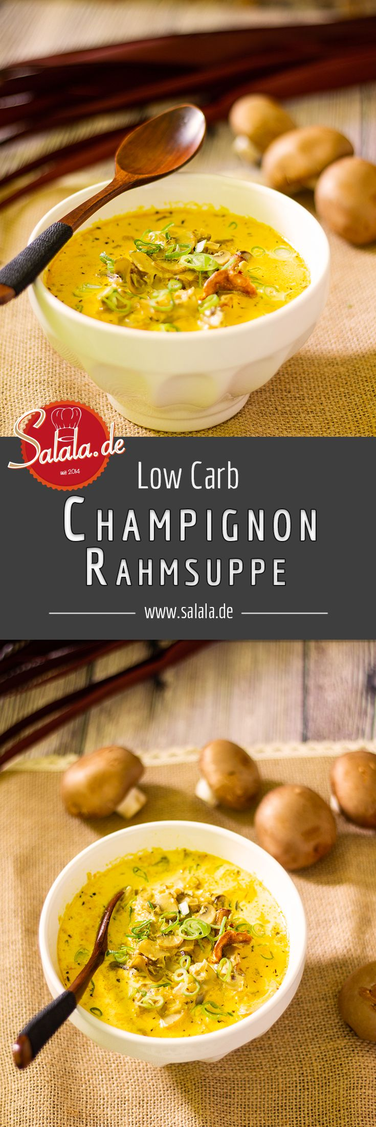 Low Carb Champignonscremesuppe – selbst gemacht