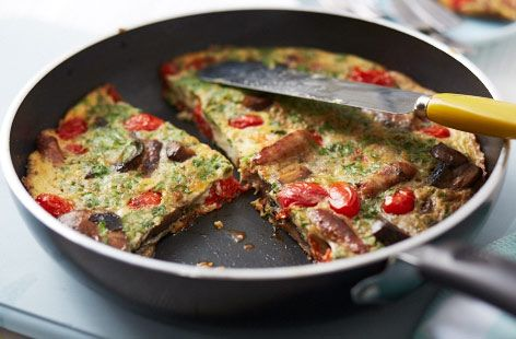This breakfast frittata can be rustled up in under half an hour for a hearty breakfast to share. | Tesco