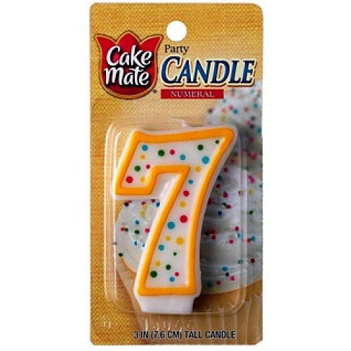 Cake Mate Numeral Birthday Candle '7' -- Final call for this special discount  : Candles Holders Decor