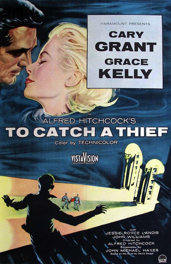 To Catch A Thief - Alfred Hitchcock Movie Poster Print - Home Theater Decor - or Movie Poster Art - Cary Grant - Grace Kelly