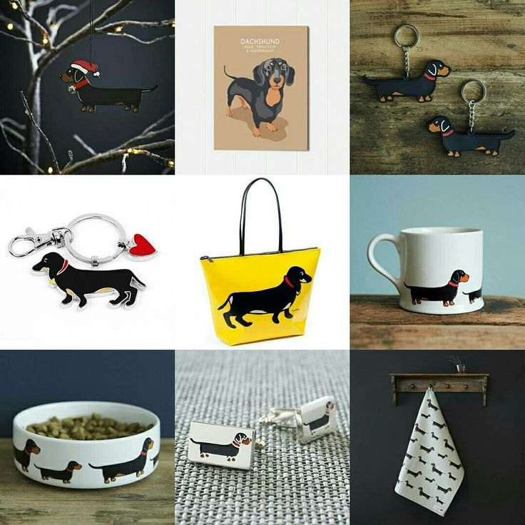 Great Dachshund gifts at www.twowoofs.co.uk