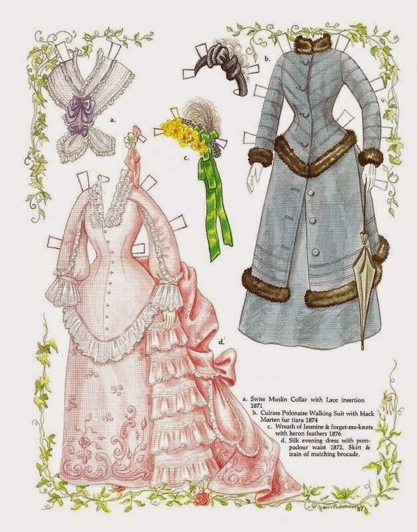 Amelia, a wax doll, and her Victorian fashions of the 1870s by Judy M Johnson, Doll Reader (2 of 2) | Gabi's Paper Dolls
