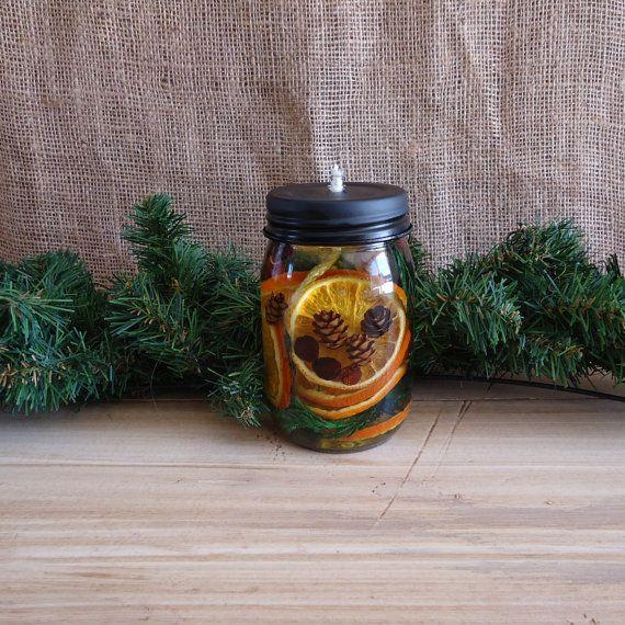 oil candle oil light oil lamp mason jar craft jar by masonjardecor, $8.00