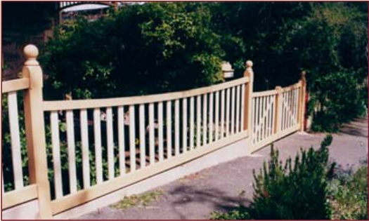 Edwardian Fence design (1910-1920): A curved balustrade design with open picket
