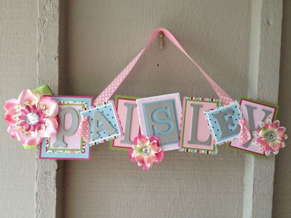 Kid's Name SignLIMITED EDITIONHot Pink Light by papershapersue