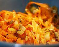 Cenoura Salteada com Manjericão e Sementes de Girassol (vegana)