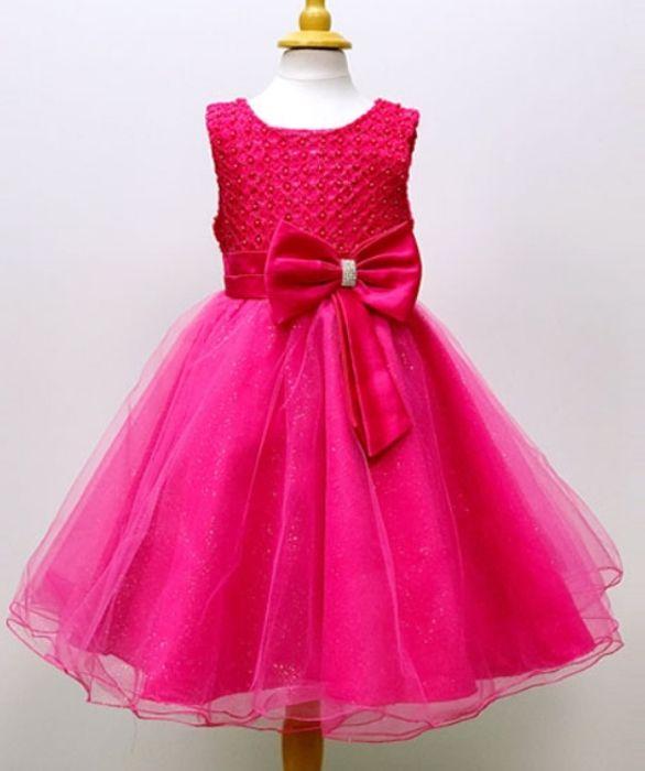 """Παιδικό Φόρεμα σε Φούξια για Παρανυφάκι, Πάρτυ, Βάπτιση """"Anjelina"""" - memoirs.gr"""