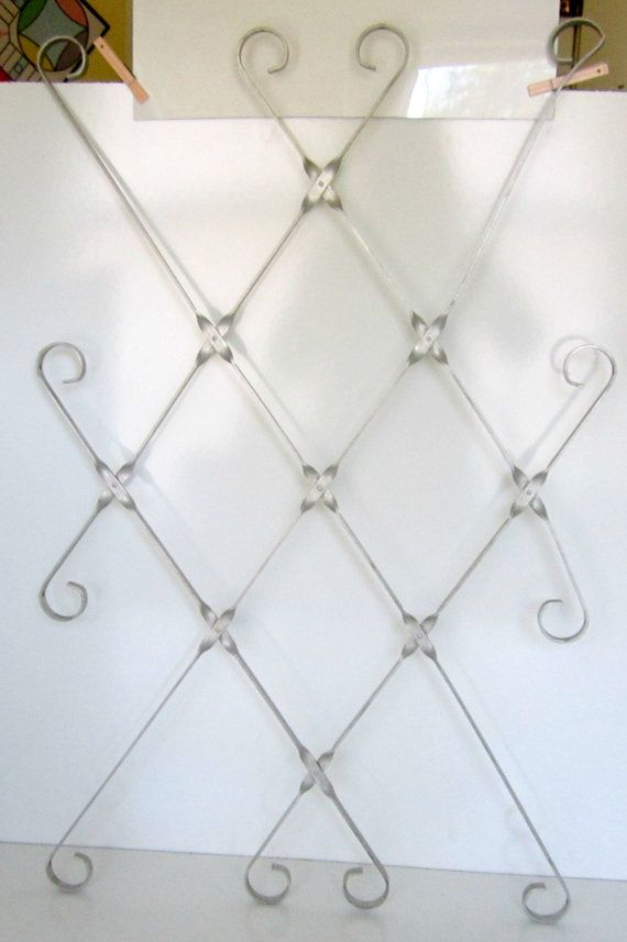 Vintage Aluminum Screen Door Guard Grille Decorative