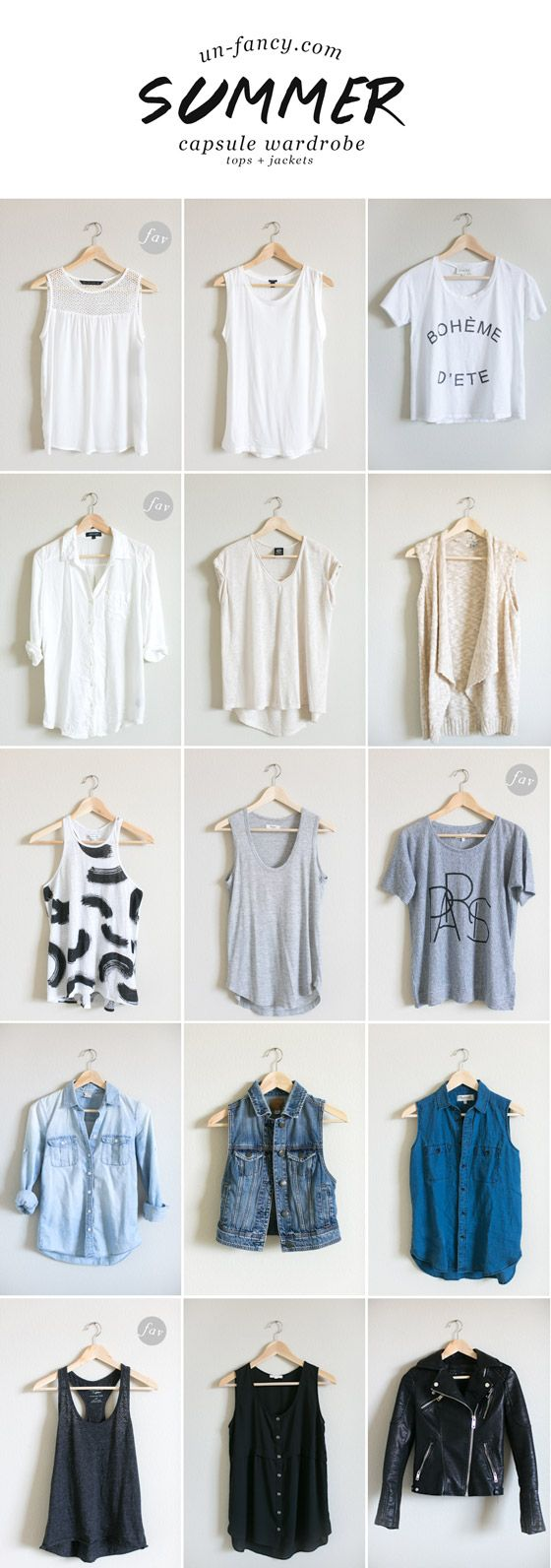 tops + jackets // my capsule wardrobe // summer 2014