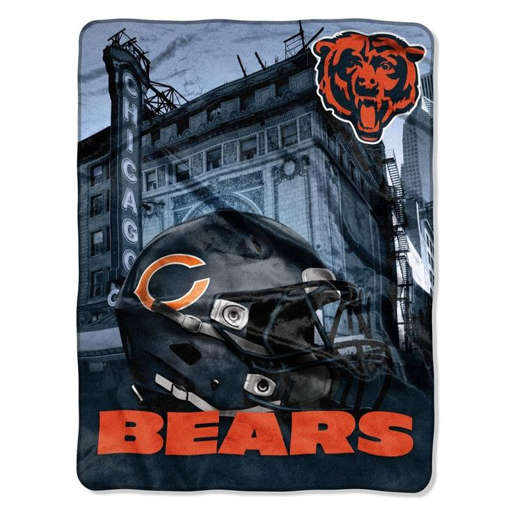 The NFL Heritage Silk Touch Chicago Bears Throw is designed with team helmet and city's skyline or landmark. Team colors and logo on an oversized silky throw. Free Shipping. Excellent quality. Visit SportsFansPlus.com for Details.