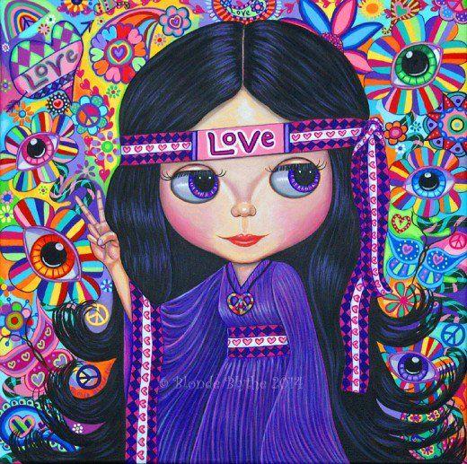 """""""Love Hippie Blythe Doll"""" by Blonde Blythe"""