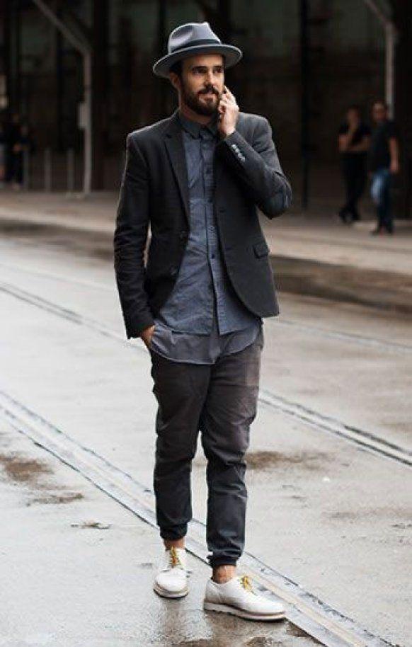 Мужские джоггеры с пиджаком