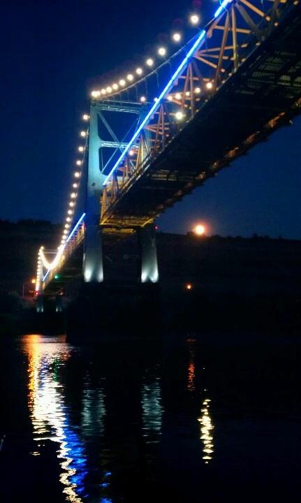 Under the Market Street Bridge in Steubenville, Ohio along the Ohio River (my photo)