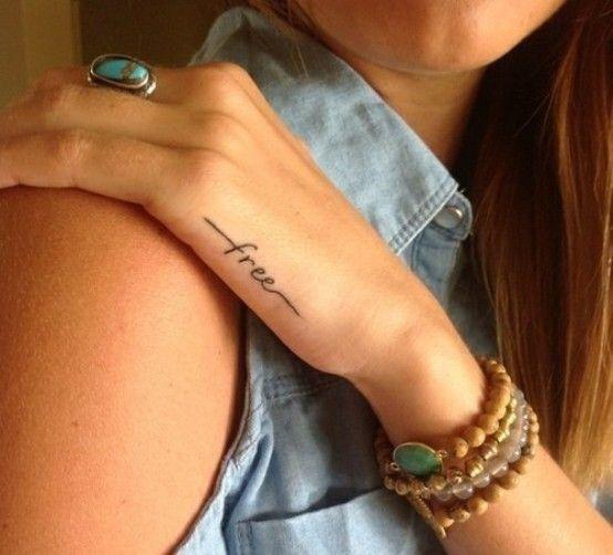 Free tattoo freedom tattoo script tattoo font typography tattoos side hand tattoo ink permanent art                                                                                                                                                                                 More