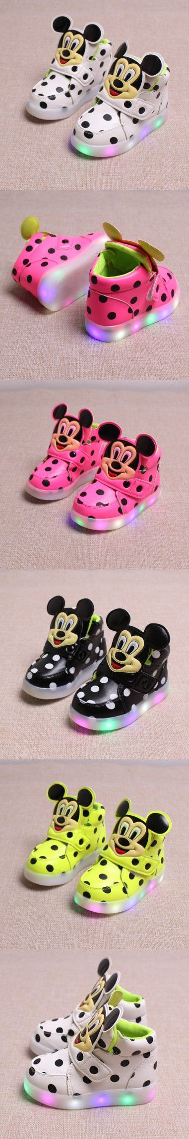 Chaussure Enfant Kids Shoes Spring Autumn New Breather Children Shoes With Light Baby Boys Led Light Sport Shoes Girls Sneakers $9.24