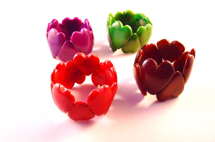 Very cute romantic heart-shaped design in various colours. An idea for a Valentine's present? #heart #heartjewelry #handmade #valentines