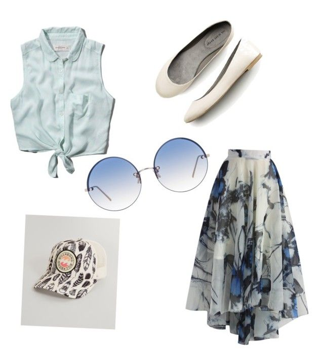 """Sunny Day"" by levy-rose ❤ liked on Polyvore featuring Abercrombie & Fitch, Linda Farrow, Billabong and Chicwish"