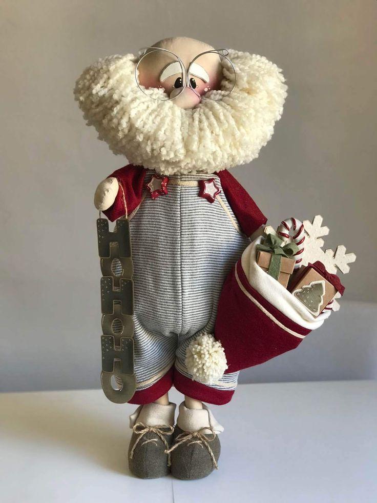 Babbo pelato in piedi navidad angelitos navidad - Decoracion navidad moderna ...