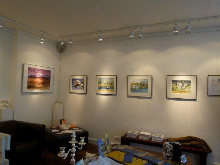 Ausstellung Faszination Kraniche   Kranich Aquarelle in der Galerie FASZINATION ART (c) Frank Koebsch (1)