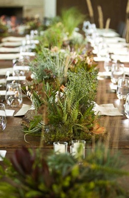 Greenery Centerpieces by Beth Helmstetter: Table Flowers, Woodland Flowers, Hobbit Wedding, Faux Flowers, Centerpiece Setting, Hobbit Party, Cut Flowers, Greenery Centerpieces
