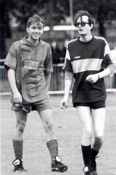 Damon Albarn and Jarvis Cocker