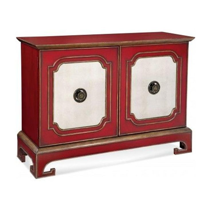 Bassett Mirror A2257 Hollywood Glam Oneida Stewardu0027s Cabinet In Chinese Red