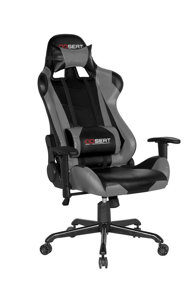 Grey Pc Gaming Chair By Opseat Professional Ergonomic Computer Chairs