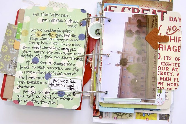 Such a cool journal. I will have to make something like this someday.Roads Minis, Travel Journals, Charleston Sc, Minis Dog Qu, Travel Scrapbook, Minis Album, Mini Albums, Art Journalscrapbook, Monika Wright