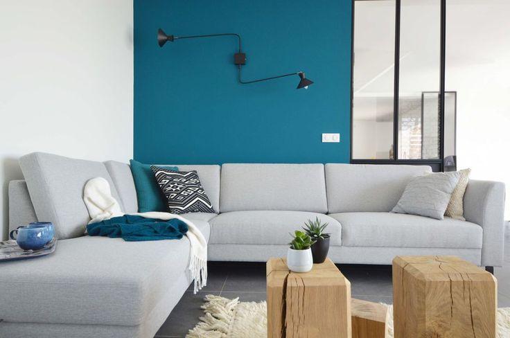 Les 25 meilleures id es de la cat gorie bleu p trole sur pinterest peinture bleu canard bleu - Mur bleu petrole ...