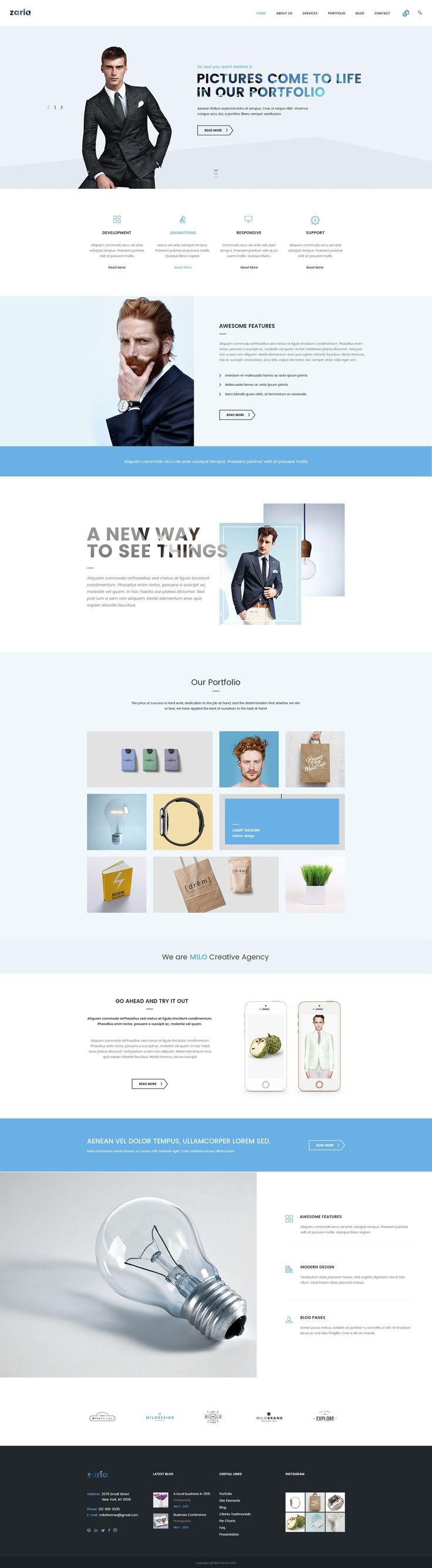 53 best Flat Design Website Templates images on Pinterest   Flat ...