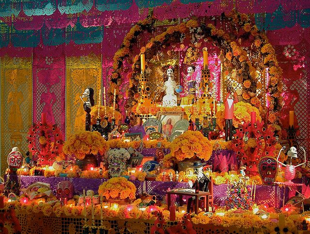Altar Mexicano  Dia de las Muertas (Day of the Dead)  a day for honoring one's ancestors