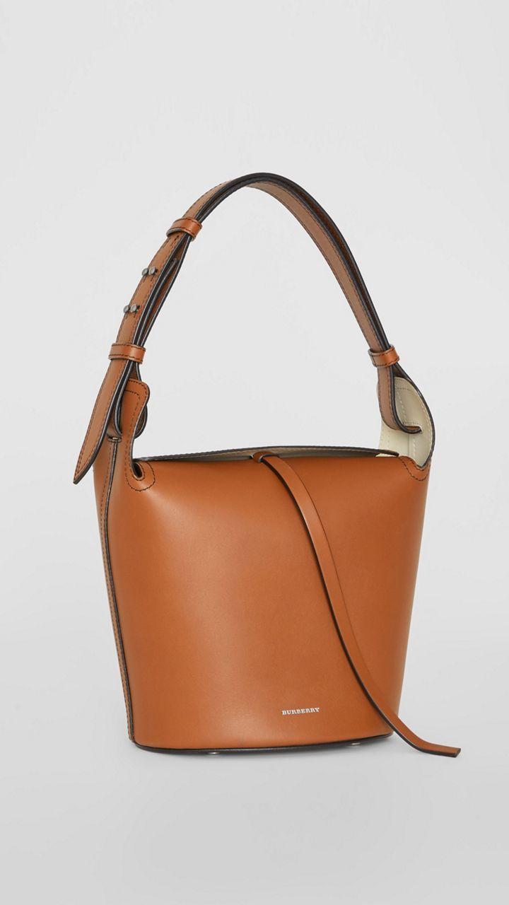 40883ada6f89 The Small Leather Bucket Bag in Tan - Women